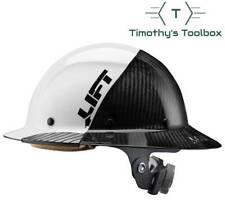 Lift Safety Hdf 50c19wc Dax 5050 Carbon Fiber Full Brim Hard Hat White Black