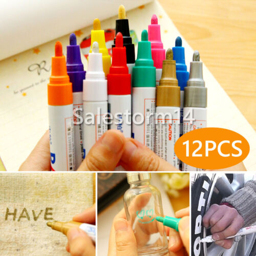 12 Stk Lackmarker Lackstift 12 Farben Lackmalstift Graffiti Schmierer Set Deko