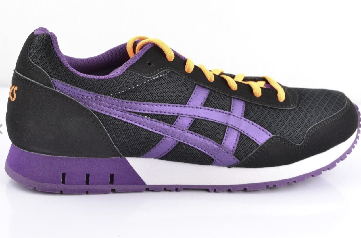 Asics Onitsuka Tiger Curreo Nero Purple Donna 9.5    Trainers Shoes df3058