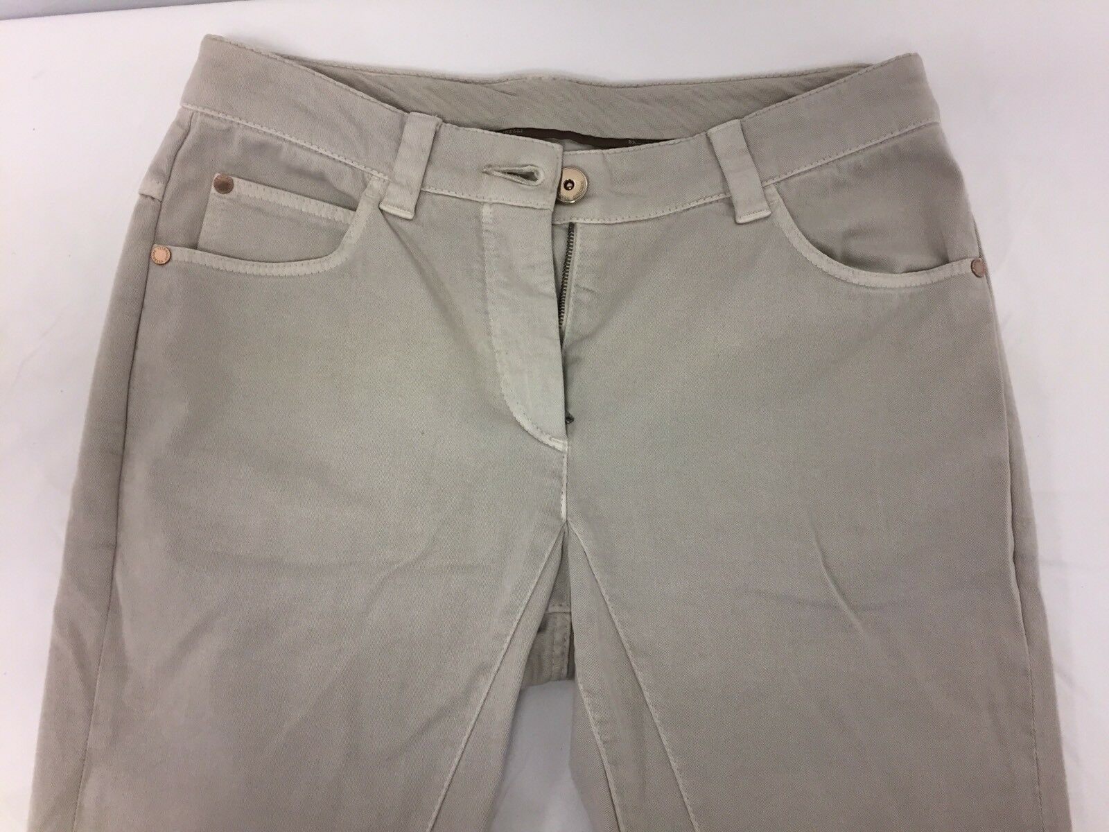Brunello Cucinelli Regular & Tapered Medium Rise Cotton Blend Jeans Size 2US