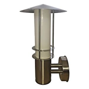 Set-of-2-Modern-LED-Stainless-Steel-and-Glass-Outdoor-House-Garden-wall-lights