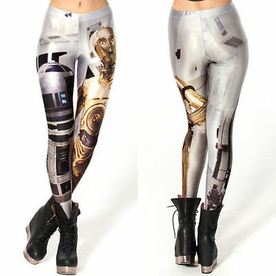 Hot Sell Womens Star Wars Leggings Space Sports Dress GYM Yoga Pants  With Size