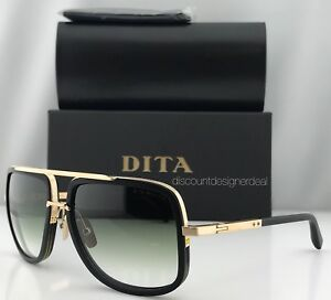 7a57ab19ae6f DITA MACH ONE SUNGLASSES DRX-2030 BLACK 12K GOLD   GREEN LENS