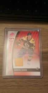 2017-18-SP-GAME-USED-AUTHENTIC-ROOKIES-RED-PARALLEL-AUTO-JERSEY-ANDERS-BJORK