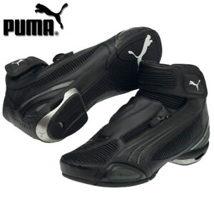 Details about PUMA TESTASTRETTA II MID LOW CUT MOTORCYCLE SHOES BOOT BLACK BLACK SIZE US 5 6 7