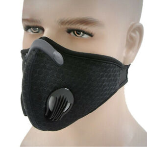 Cycling Protective Mouth-muffle Face Shield Haze Fog Mouth Cover With Filter /&