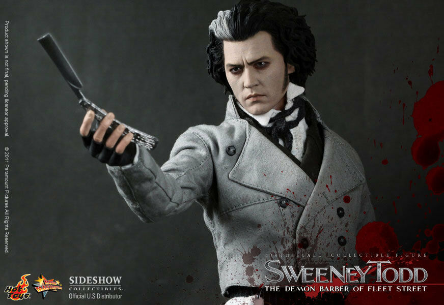 SWEENEY TODD: THE DEMON BARBER OF FLEET STREETSIXTH SCALE FIGUREHOT TOYSMIB