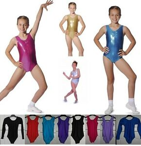 LEOTARD-ROCH-VALLEY-GIRLS-DANCE-GYMNASTICS-LEOTARDS-METALLIC-NYLON-LYCRA