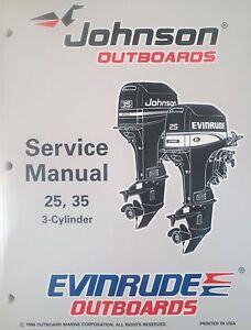 1997 johnson evinrude 25 35 hp 3 cylinder outboard factory. Black Bedroom Furniture Sets. Home Design Ideas
