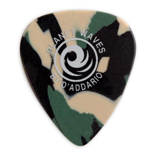 Planet Waves 1CCF2-10 Camoflauge Celluloid Guitar Picks 0.5mm Light
