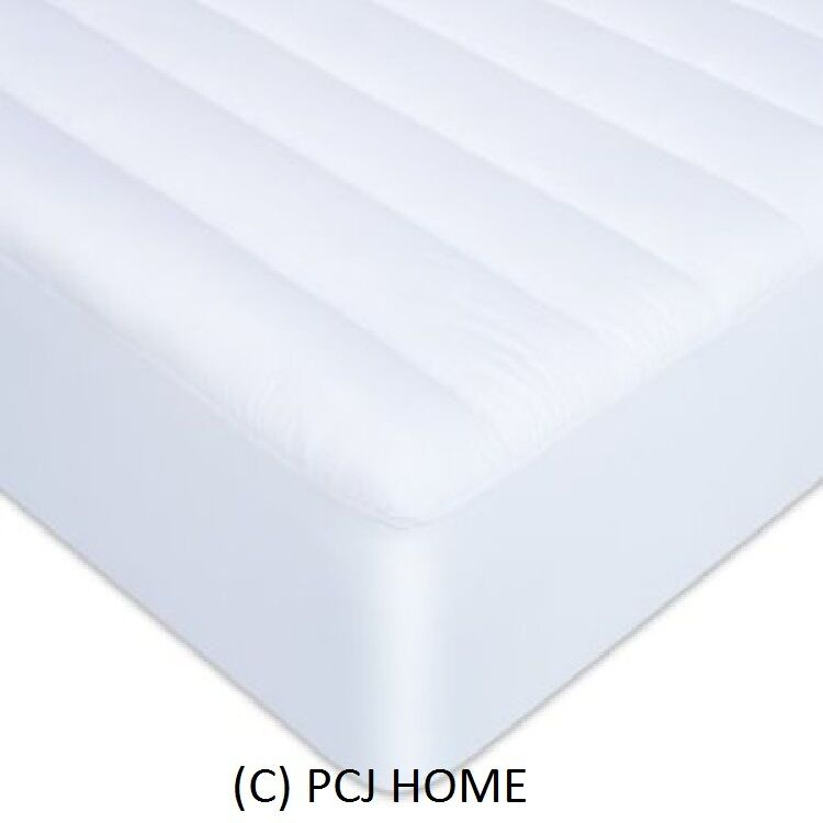 Mattress Protector Quilted Bed Topper Fitted Cover in S D K SK All Sizes