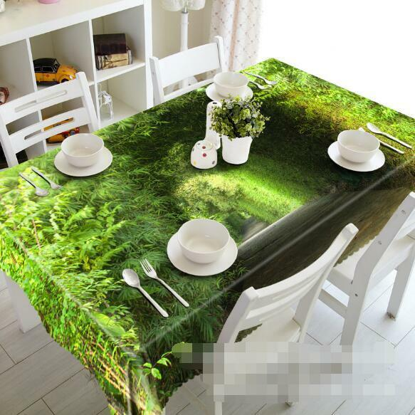 3D vert 55 Tablecloth Table Cover Cloth Birthday Party Event AJ WALLPAPER AU