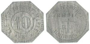 Schlosswerft R.Holtz Harburg a/e Kleingeldersatzmarke 10 Pf prägefrisch 54508