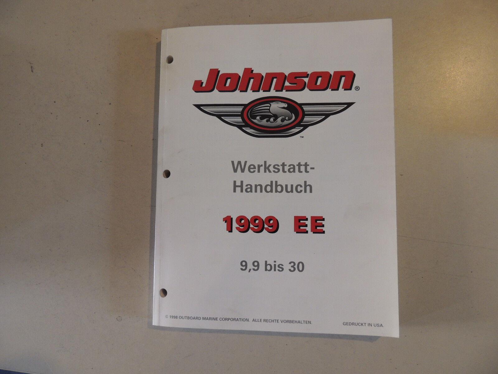 1999 Werkstatthandbuch Johnson Außenborder 9,9 15 25 30 PS Werkstattbuch