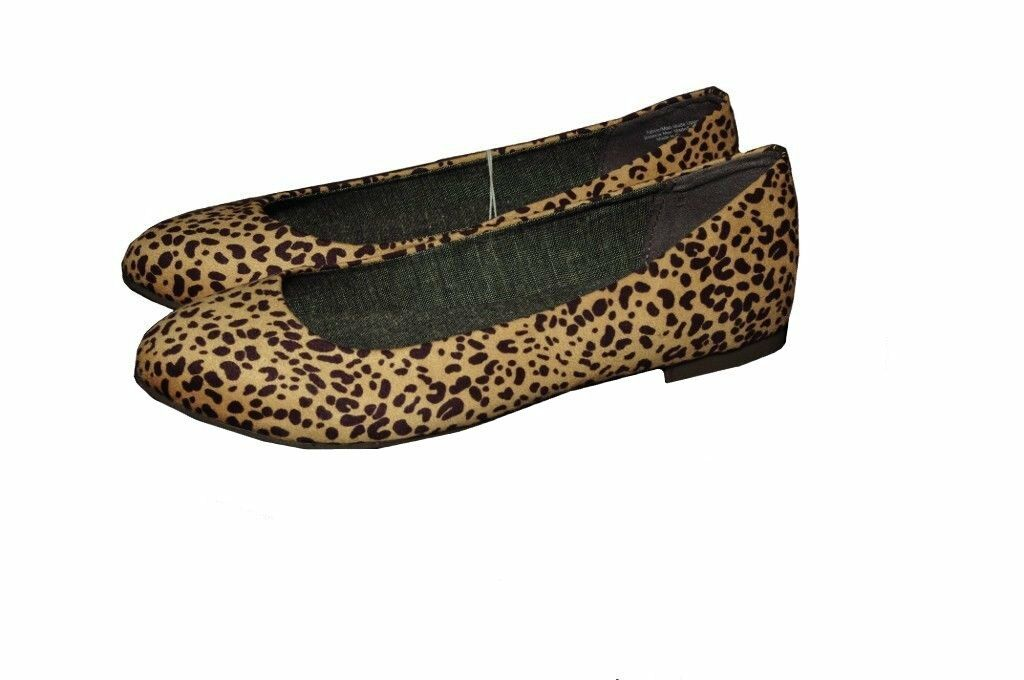 Womens Dr Scholls Leopard Animal Flats Memory Foam Dress shoes 8 8.5 9 10 NEW