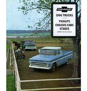 Image Is Loading 1966 Chevy Truck Sales Brochure