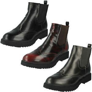 Mujer Spot On SIN CIERRES Invierno Zapato Oxford Informal Botines Chelsea f50483