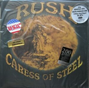 Rush-034-Caress-Of-Steel-034-REMASTERED-200-Gram-Vinyl-LP-GATEFOLD-amp-Download-OOP