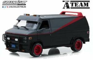 Greenlight-84072-GMC-Vandura-un-equipo-modelo-diecast-escala-1-24th-Ruedas-Rojo-van