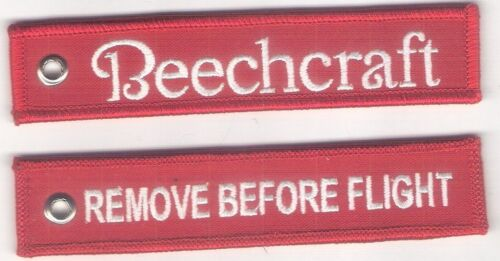 "BEECHCRAFT AIRCRAFT ""REMOVE BEFORE FLIGHT"" KEY CHAIN KEY111"