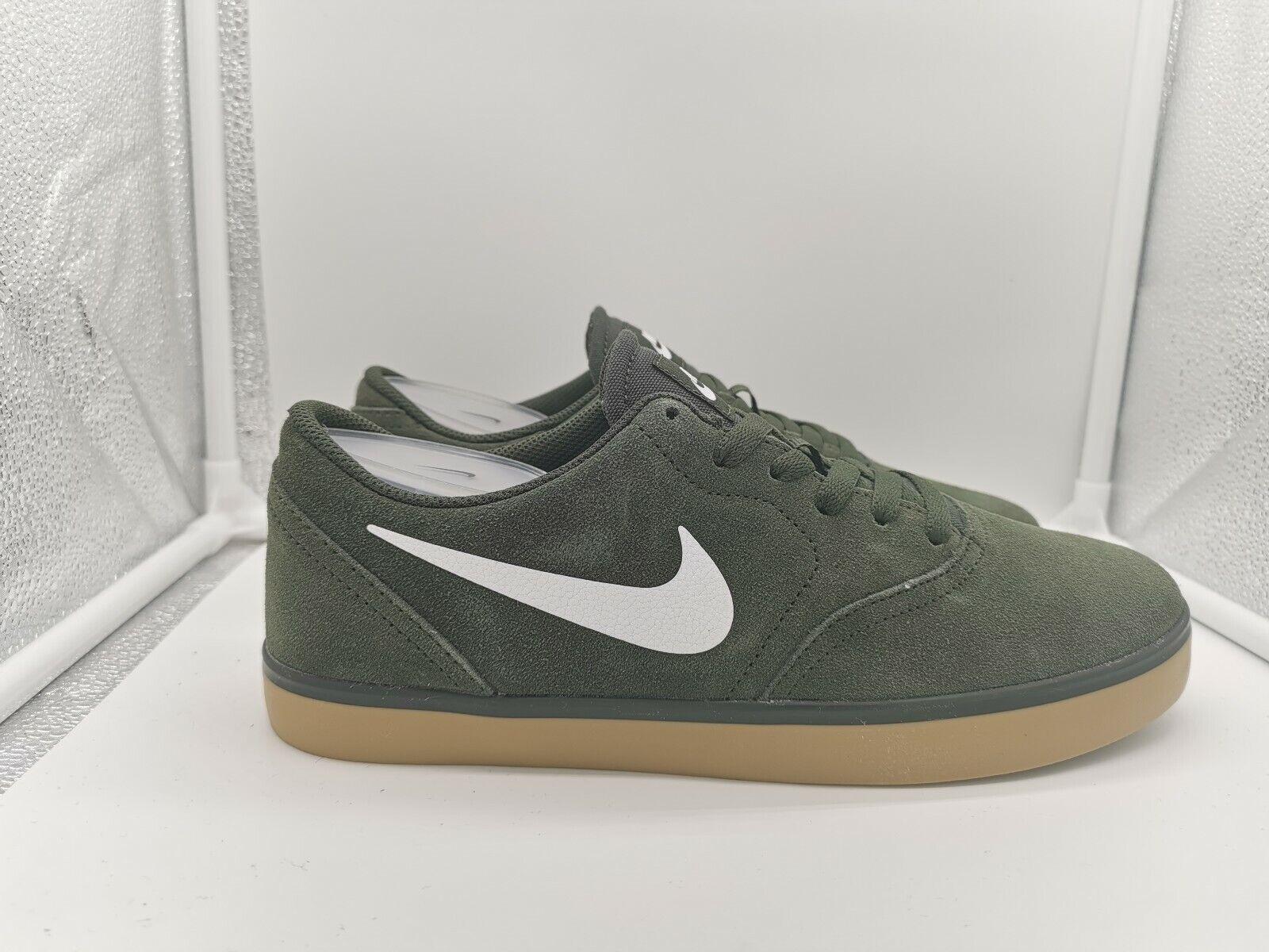 Nike SB Check UK 8 Sequoia Weiß Gum Light braun 705265-312