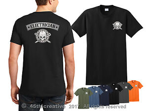Image Is Loading Electrician T Shirt Electricians Skull Electrical Worker