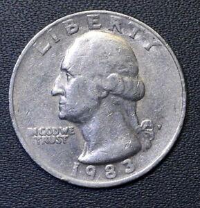 1983-P-Washington-Quarter-Circulated-Free-Shipping-Satisfaction-Guaranteed