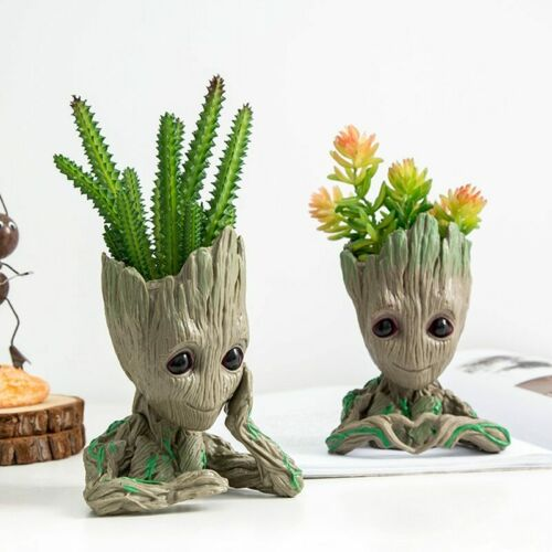 Baby Groot Flowerpot Pen Holder Flower Pot Cute Action Home Plants Garden Vase