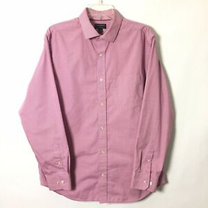 Banana Republic Classic Fit Homme Rose Grand Carreaux Manche Longue Bouton Devant Shirt