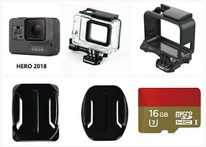 Refurbished-GoPro-Hero-2018-Wasserdichte-Action-HD-Kamera-Camcorder-Frame-16g-Karte