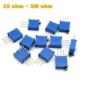 3296-Multiturn-Variable-Resistors-Potentiometer-Preset-Trimmer-Pot