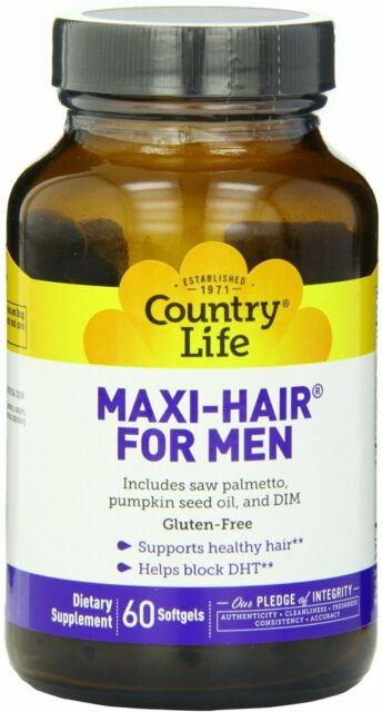 Maxi Hair For Men, Country Life, 60 softgels