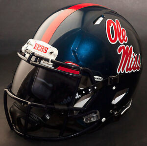Image is loading CUSTOM-MISSISSIPPI-OLE-MISS-REBELS-NCAA-Riddell-SPEED- f580976fa