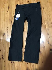 Details about New Salomon Clima Pro 10K Snowflirt All Mountain Mens XL Snow Ski Pants Black