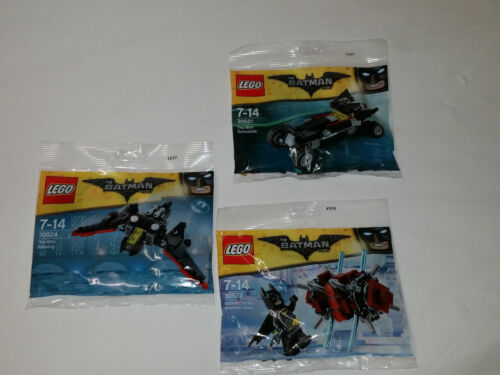 THE LEGO® BATMAN MOVIE 30522 NEW 30521 30524 TRIPPLE Pack POLYBAGS