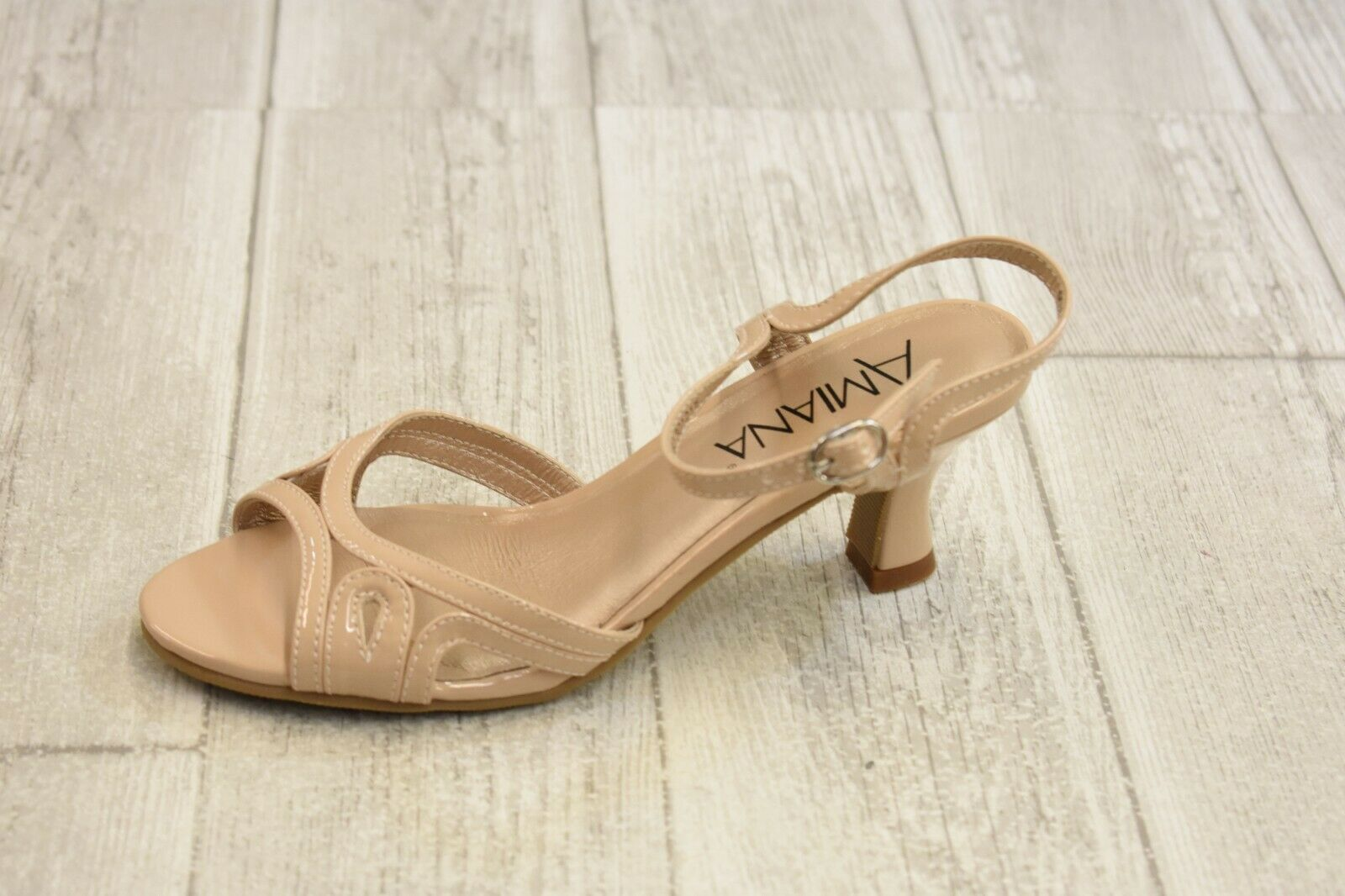 Amiana 15-A5181 Dress Sandals - Women's Size 5 - Nude