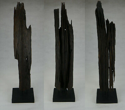 Design Standleuchte 1m Natur Teak Holz Beleuchtung ...
