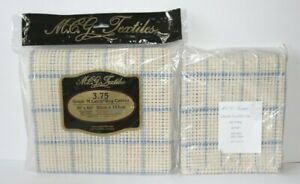 """Lot of 2 MCG Textiles 3.75 Graph N' Latch Rug Canvas 36""""x 60"""" and 30"""" x 36"""""""