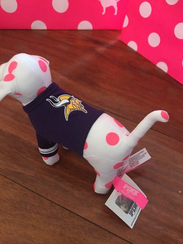 VICTORIA'S SECRET DOG PLUSH NFL MN VIKINGS FOOTBALL SHIRT VICTORIAS SECRET NWT