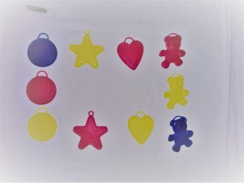 verschiedene Motive und Farben unsorteirt   NEU 10 Stück Ballongewichte 8g