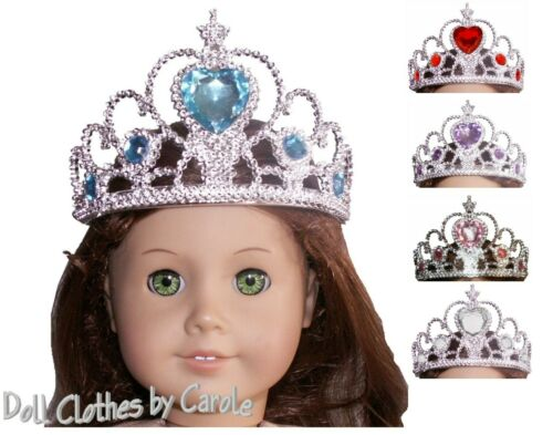 Pink Blue Red Silver Purple Crown Tiara fits American Girl Size Doll Princess