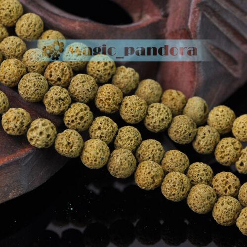 Hot 8 mm NATURAL Volcanic Lava Rock Gemstone Loose Spacer Perles Rondes teints couleur