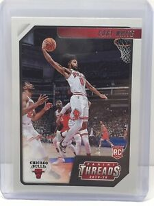 2019-20 Panini Chronicles Threads #95 Coby White RC Rookie Chicago Bulls