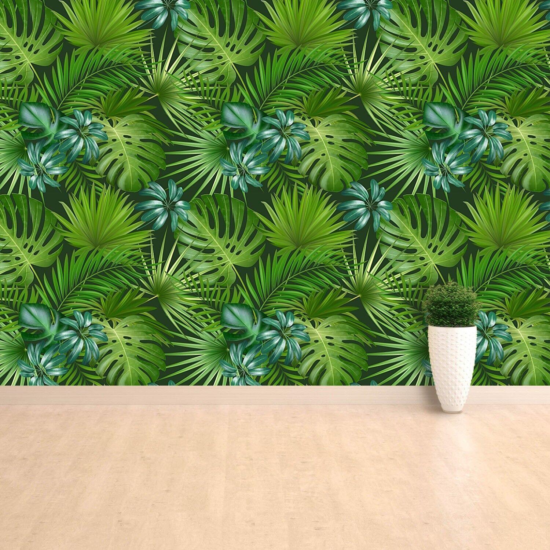 Fototapete Selbstklebend Einfach ablösbar Mehrfach klebbar Tropisches Muster