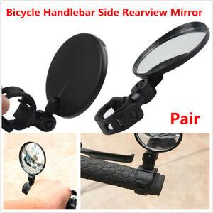 2Pcs Cycling Bike Bicycle Handlebar Flexible Safe Rear View Rearview Mirrow