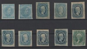 G138177/ USA – CONFEDERATE STATES / COLLECTION 1862 - 1864 MH CV 274 $