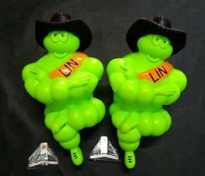 "VINTAGE 2x14/"" MICHELIN MAN DOLL FIGURE BIBENDUM TIRE Leather Hat LED Light Truck"