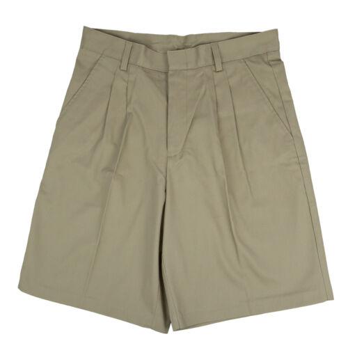Windstan Men/'s Khaki Pleated Shorts School Uniform Sizes 30 to 44 Waist
