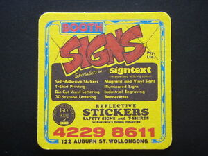 Details about BOOTH SIGNS PTY LTD SIGNTEXT 122 AUBURN ST WOLLONGONG  42298611 COASTER