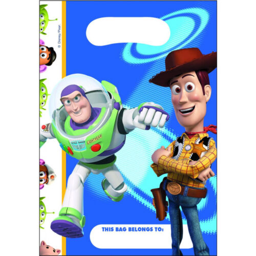 Boys Girls Birthday Party Toy Story Buzz /& Woody Themed Loot Bag Lunch Bags Gift